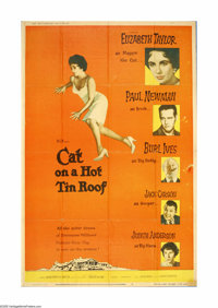 """Cat on a Hot Tin Roof (MGM, 1958). Poster (40"""" X 60""""). Offered here is an original poster for this drama direc..."""