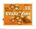 "Movie Posters:War, Cease Fire! (Paramount, 1953). Half Sheet (22"" X 28""). Offered here is an original poster for this Korean war documentary re..."
