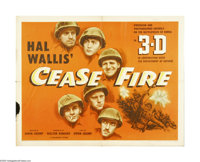 "Cease Fire! (Paramount, 1953). Half Sheet (22"" X 28""). Offered here is an original poster for this Korean war..."