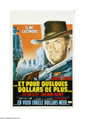 """Movie Posters:Western, For a Few Dollars More (United Artists, R-1970s). Belgian Poster (14"""" X 21""""). Offered here is an original poster for this Sp..."""