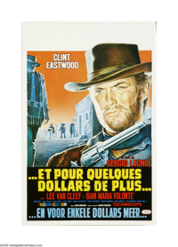 """For a Few Dollars More (United Artists, R-1970s). Belgian Poster (14"""" X 21""""). Offered here is an original post..."""