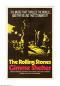 "Movie Posters:Musical, Gimme Shelter (20th Century Fox, 1970). One Sheet (27"" X 41""). Offered here is an original poster for this rock documentary ..."