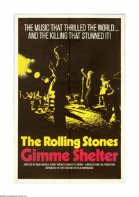 "Gimme Shelter (20th Century Fox, 1970). One Sheet (27"" X 41""). Offered here is an original poster for this roc..."