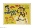 "Movie Posters:Adventure, Hudson's Bay (20th Century Fox, 1941). Title Lobby Card (11"" X14""). Offered here is an original lobby card for this adventu..."