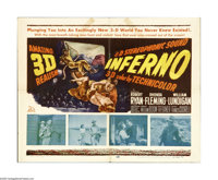 """Inferno (20th Century Fox, 1953). Half Sheet (22"""" X 28""""). Offered here is an original poster for this drama st..."""