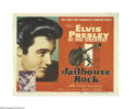 "Movie Posters:Elvis Presley, Jailhouse Rock (MGM, 1957). Title Lobby Card (11"" X 14""). Offered here is an original lobby card for this musical drama star..."