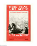 """Movie Posters:Comedy, Love and Death (United Artists, 1975). Poster (30"""" X 40""""). Offered here is an original poster for this comedy directed by Wo..."""