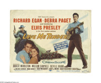 """Love Me Tender (20th Century Fox, 1956). Title Lobby Card (11"""" X 14""""). Offered here is an original lobby card..."""