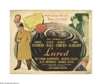 "Lured (United Artists, 1947). Title Lobby Card (11"" X 14""). Offered here is an original lobby card for this th..."