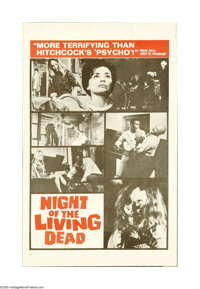 Night of the Living Dead (Continental, 1968). Herald. Offered here is an original herald for this horror/thriller direct...