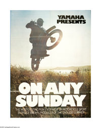 "On Any Sunday (Cinema 5 Distributing, 1971). One Sheet (27"" X 41""). Offered here is an original poster for thi..."