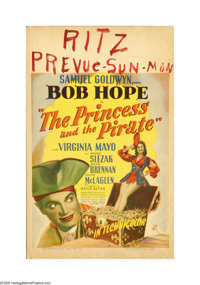 "The Princess and the Pirate (RKO, 1944). Window Card (14"" X 22""). Offered here is an original poster for this..."