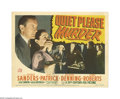 "Movie Posters:Crime, Quiet Please, Murder (20th Century Fox, 1942). Title Lobby Card (11"" X 14""). Offered here is an original lobby card for this..."