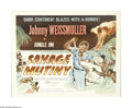 "Movie Posters:Adventure, Savage Mutiny (Columbia, 1953). Half Sheet (22"" X 28""). Thisadventure starring Johnny Weissmuller, Angela Stevens and Tamba..."