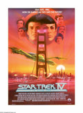 """Movie Posters:Science Fiction, Star Trek IV: The Voyage Home (Paramount, 1987). One Sheet (27"""" X 41""""). Offered here is an original poster for this sci-fi a..."""