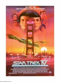 "Star Trek IV: The Voyage Home (Paramount, 1987). One Sheet (27"" X 41""). Offered here is an original poster for..."