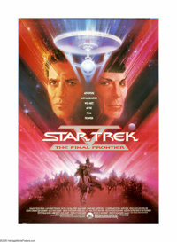 "Star Trek V: The Final Frontier (Paramount, 1989). One Sheet (27"" X 41""). Offered here is an original poster f..."