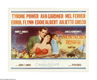 "The Sun Also Rises (20th Century Fox, 1957). Half Sheet (22"" X 28""). In this lot is an original poster for the..."