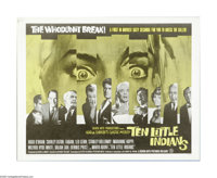 "Ten Little Indians (Seven Arts Pictures, 1966). Half Sheet (22"" X 28""). Based on an original Agatha Christie m..."