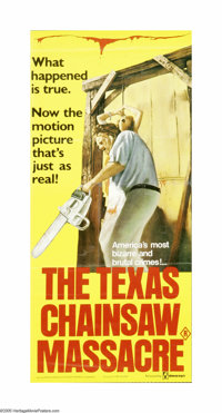 "The Texas Chainsaw Massacre (Bryanston, 1974). Australian Daybill (13"" X 28""). Offered here is an original pos..."