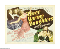"""Three Daring Daughters (Loew's, 1948). Half Sheet (22"""" X 28""""). Offered here is an original poster for this rom..."""