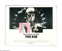 "THX 1138 (Warner Brothers, 1971). Half Sheet (22"" X 28""). This original poster for this sci-fi drama directed..."