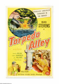 "Movie Posters:War, Torpedo Alley (Allied Artists, 1953). One Sheet (27"" X 41"").Offered here is an original poster for this war drama starring ..."