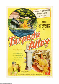"Torpedo Alley (Allied Artists, 1953). One Sheet (27"" X 41""). Offered here is an original poster for this war d..."