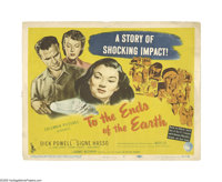 """To the Ends of the Earth (Columbia, 1947). Title Lobby Card (11"""" X 14""""). Offered here is an original lobby car..."""