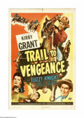 """Movie Posters:Western, Trail to Vengeance (Universal, 1945). One Sheet (27"""" X 41""""). Offered here is an original poster for this Western starring Ki..."""