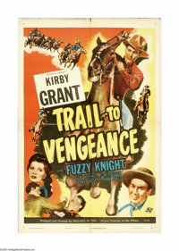 """Trail to Vengeance (Universal, 1945). One Sheet (27"""" X 41""""). Offered here is an original poster for this Weste..."""