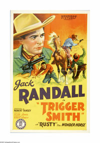 """Trigger Smith (Monogram, 1939). One Sheet (27"""" X 41""""). Offered here is an original poster for this Western sta..."""