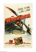 "Movie Posters:Adventure, The Warriors (Allied Artists, 1955). One Sheet (27"" X 41""). Offeredhere is an original poster for this romantic adventure s..."