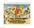 "Movie Posters:Western, Wings of the Hawk (Universal International, 1953). Half Sheet (22"" X 28""). Offered here is an original poster for this Weste..."