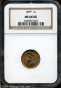 Indian Cents: , 1899 1C MS66 Red NGC. ...