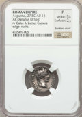 Ancients:Roman Imperial, Ancients: Augustus (27 BC-AD 14). AR denarius (3.55 gm). NGC Fine5/5 - 2/5, bankers mark, edge marks....