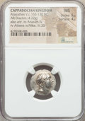 Ancients:Greek, Ancients: CAPPADOCIAN KINGDOM. Ariarathes V Eusebes Philopater (ca.163-130 BC). AR drachm (4.22 gm). NGC MS 5/5 - 4/5....
