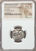 Ancients:Greek, Ancients: THESSALY. Thessalian League. Ca. 2nd-1st centuries BC. ARstater or double victoriatus (5.64 gm). NGC Choice AU ★ 5/5 - 5...