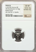 Ancients:Greek, Ancients: PHOCIS. Federal Coinage. Ca. mid-4th century BC. ARhemidrachm (2.76 gm). NGC Choice VF 5/5 - 3/5....