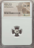 Ancients:Greek, Ancients: IONIA. Teos. Ca. 520-450 BC. AR hemidrachm or quarterstater. NGC Choice VF....