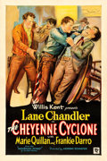 "Movie Posters:Western, The Cheyenne Cyclone (First Division Pictures, 1931). One Sheet(27"" X 40.75"").. ..."