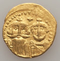 Ancients:Byzantine, Ancients: Heraclius (AD 610-641) and Heraclius Constantine.AVsolidus (4.40 gm).NGC VF....