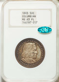Commemorative Silver: , 1893 50C Columbian MS63 Prooflike NGC. CAC. NGC Census: (58/102). MS63. Mintage 1,550,405. ...