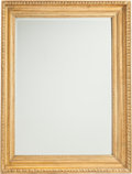 Furniture : Continental, A Beveled Carved Giltwood Mirror. 47-3/4 h x 38-1/4 w x 3-1/2 d(121.3 x 97.2 x 8.9 cm). ...