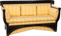 Furniture , A Neoclassical Biedermeier Ebonized Wood Sofa. 37 h x 71 w x 26 d inches (94.0 x 180.3 x 66.0 cm). PROPERTY FROM THE RITTE... (Total: 6 Items)
