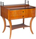 Furniture : Continental, A Unique German Biedermeier Cherry Roll-Top Desk, South Germany,Franconia Region, circa 1825. 42-1/8 h x 37-1/2 w x 27-1/2 ...