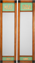 Furniture : Continental, A Pair of South German Neoclassical Mirrors, 19th century. 59inches high x 16 inches wide (149.9 x 40.6 cm). PROPERTY FRO...(Total: 2 Items)