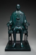 Sculpture, Mihail Chemiakin (Russian, b. 1943). Peter the Great, 1994. Bronze with green patina. 32 inches (81.3 cm) high. EA 4/4. ...