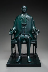 Mihail Chemiakin (Russian, b. 1943) Peter the Great, 1994 Bronze with green patina 32 inches (81