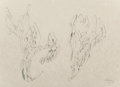 Works on Paper, Mihail Chemiakin (Russian, b. 1943). Metaphysical Heads, 1992. Ink on paper. 30-5/8 x 20-1/2 inches (77.8 x 52.1 cm). Si...